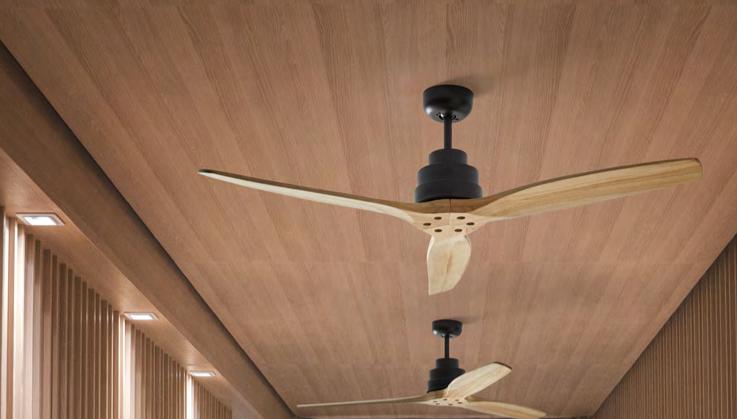 Ventilador de techo Byron madera roble