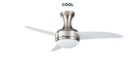 Ventilador de techo con luz Cool cromo