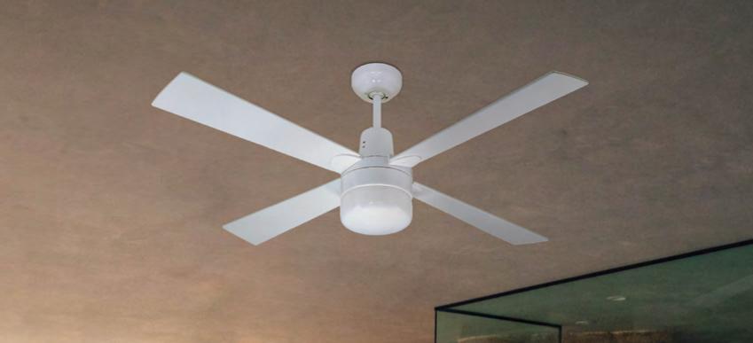 Ventilador de techo con luz Hampton blanco