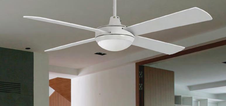 Ventilador de techo con luz Loft  blanco