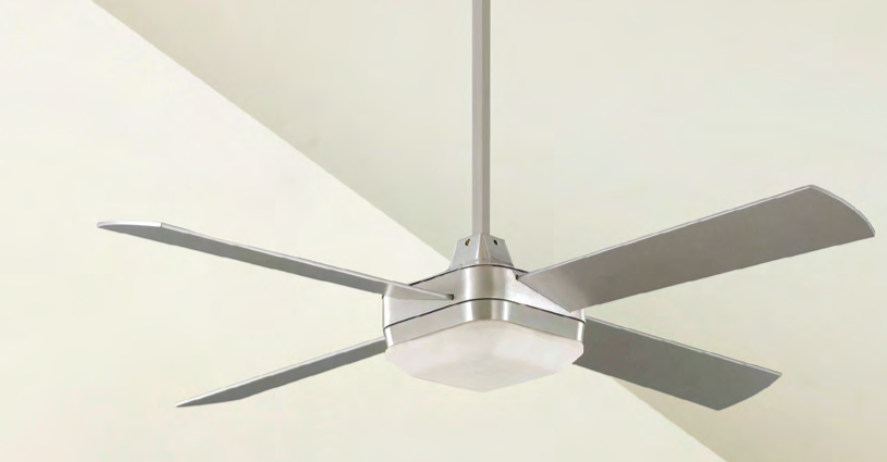 Ventilador de techo con luz Square aluminio