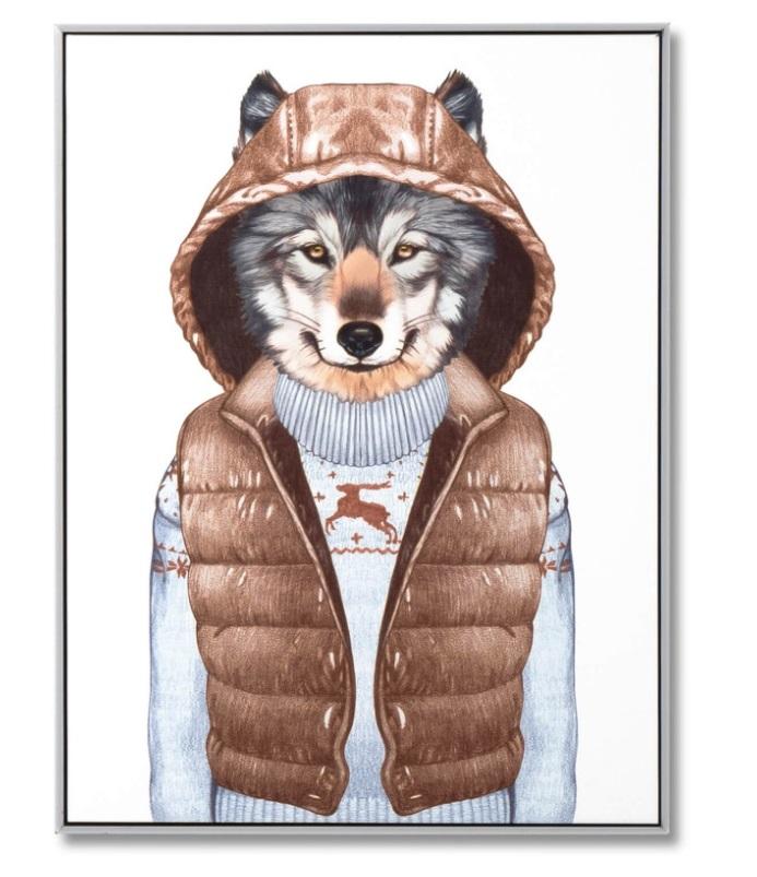 Cuadro Wolf Vest blanco 60x80 xm