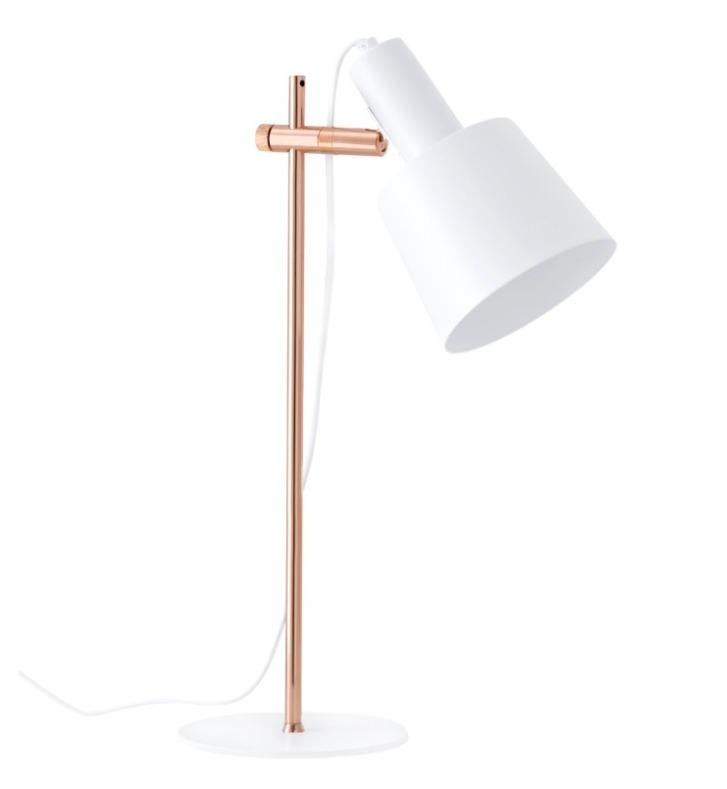 Lámpara de sobremesa Estel de metal color blanco