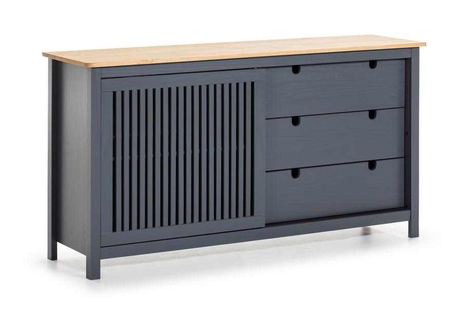 Aparador Bruna madera de pino gris 150x80