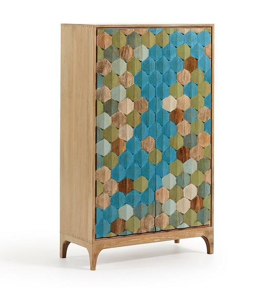 Aparador tallado madera multicolor 140x85