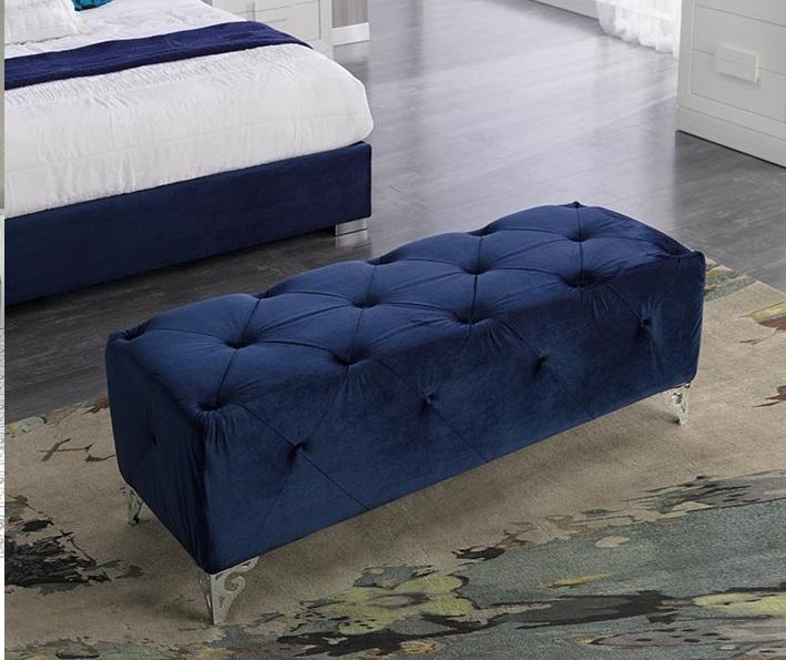 Banco pie de cama tapizado capitone B-24