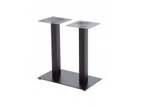 Base hierro fundido negro doble columna