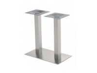 Base en acero inox doble columna