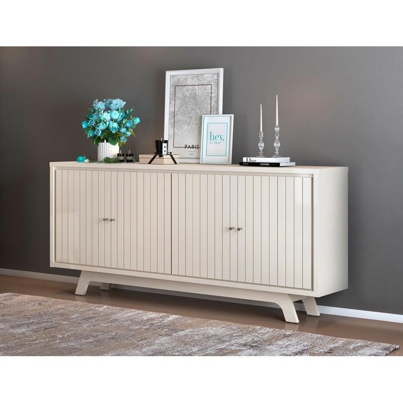 Aparador Hampton madera blanco roble 180 cm