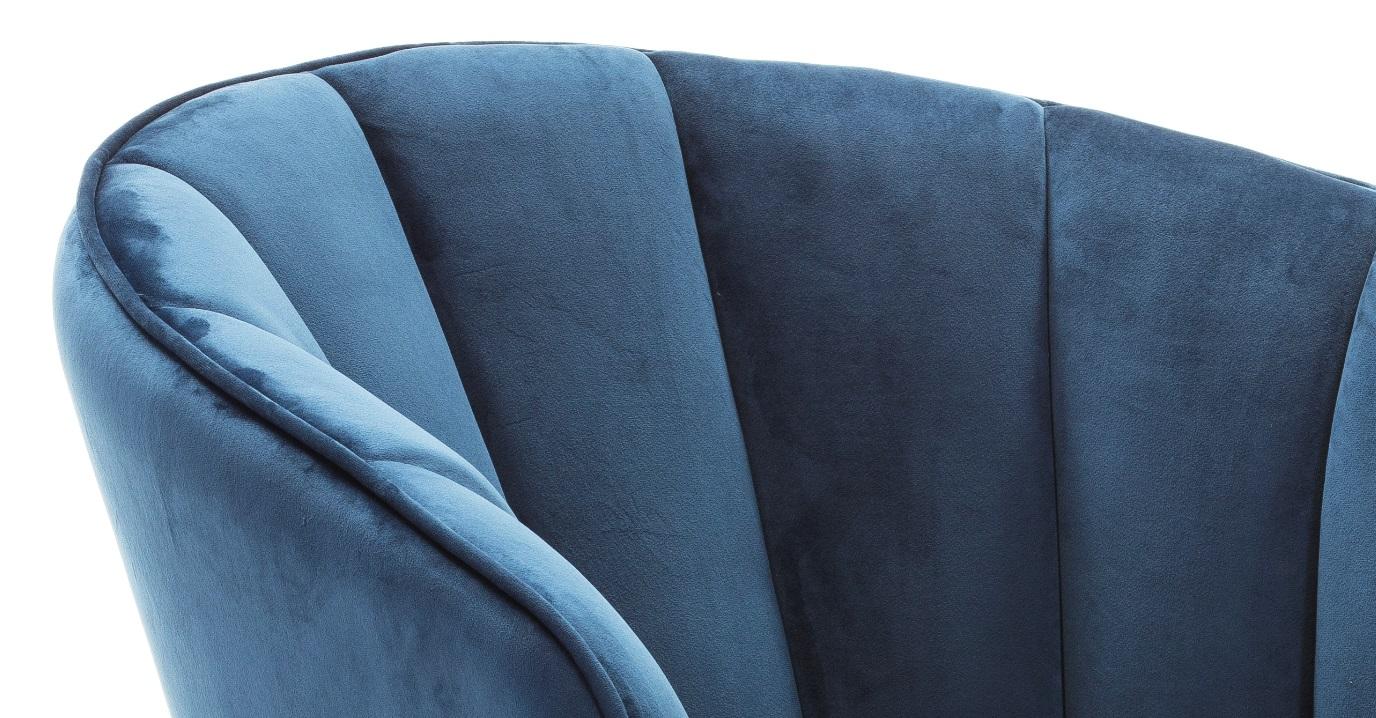 Butaca concha terciopelo azul SL-895