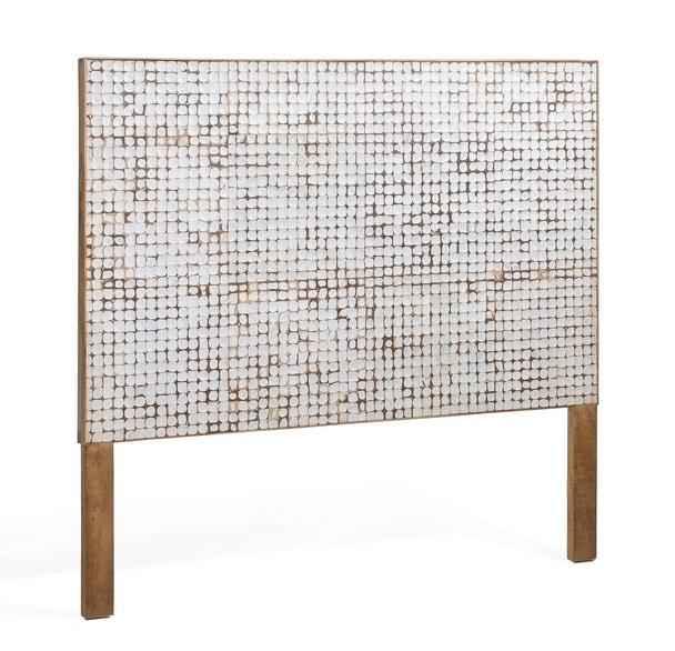 Cabezal mosaico de coco cama de 90