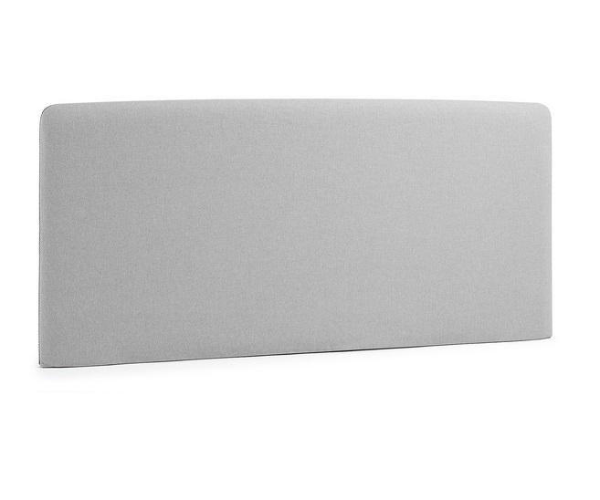 Cabezal pocket tela gris cama de 160 cm