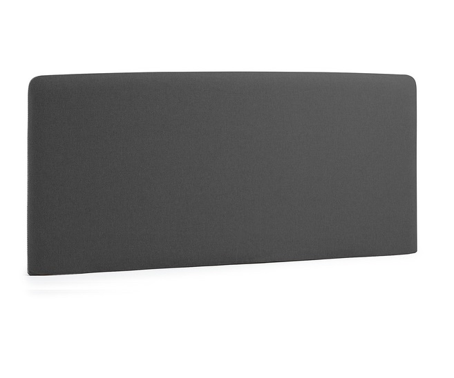 Cabezal pocket tela gris oscuro cama de 160