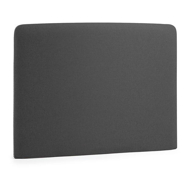 Cabezal pocket tela gris oscuro cama 90