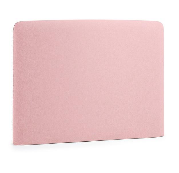 Cabezal pocket tela rosa cama 90