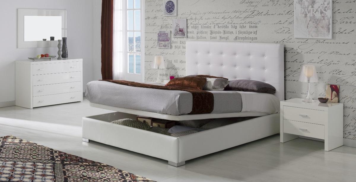 Cama canape abatible tapizada Eva
