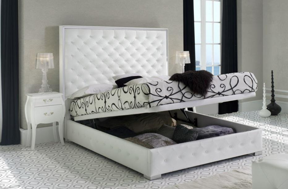 Cama tapizada clasica abatible Valeria