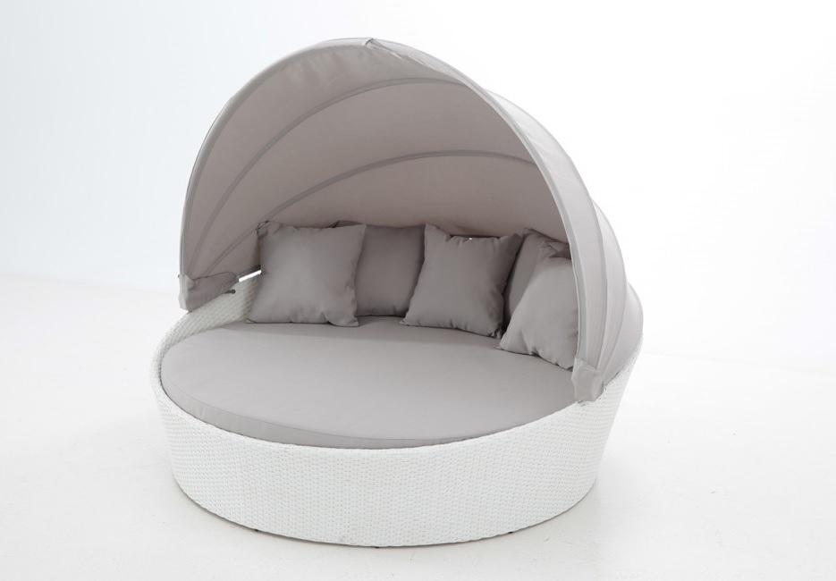 Cama lounge rattan blanco albi
