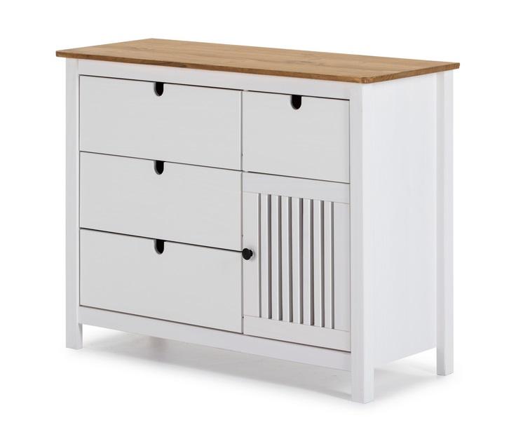 Comoda Bruna madera blanco 100x80