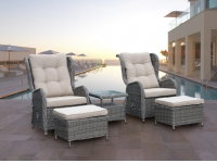 Conjunto rattan relax reclinable cisca