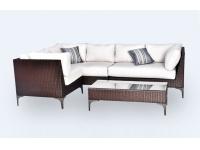 Sofa modular esquinero rattan Land 205x275