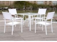 Conjunto terraza aluminio blanco ibiza