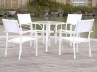 Conjunto aluminio blanco Ibiza redondo