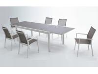 Conjunto terraza aluminio blanco cafe Sky
