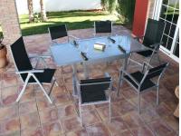 Conjunto alumino mesa extensible calpe