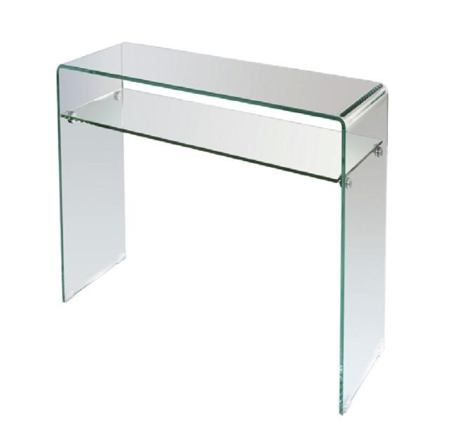 Consola cristal con balda 100cm CON-03