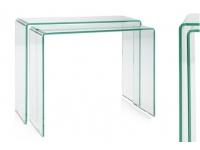 Consola nido cristal set 2