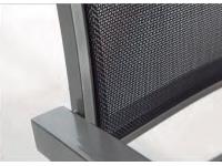 Silla terraza aluminio Grafit