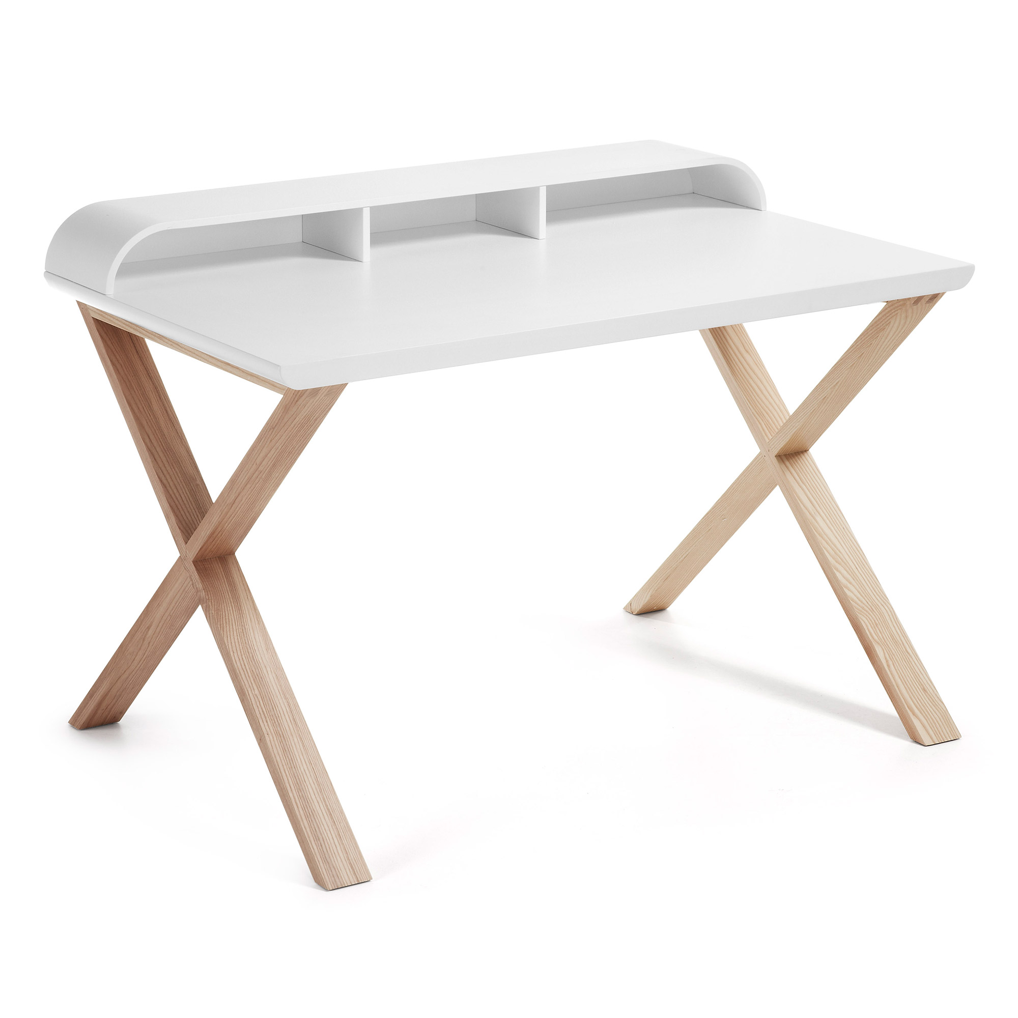 Mesa escritorio nordic blanco mate fresno 120x70