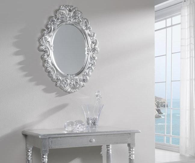 Espejo clasico plata dorado 72x54 PU-008