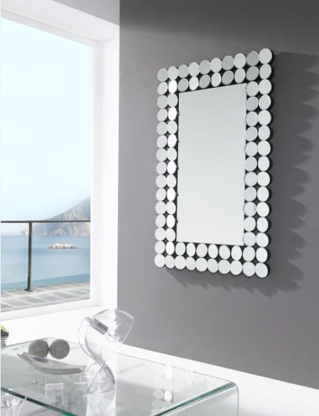 Espejo rectangular E-112 circulos 120x80