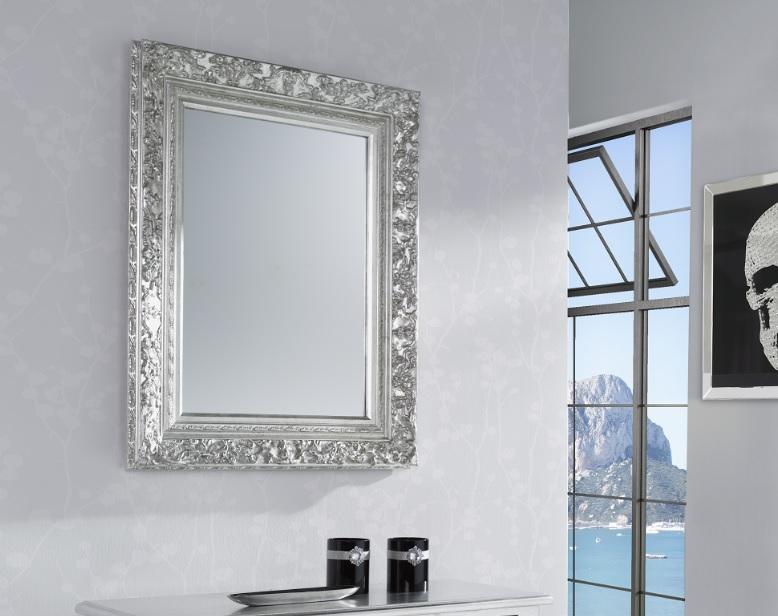 Espejo clasico plata 95x75 E-201