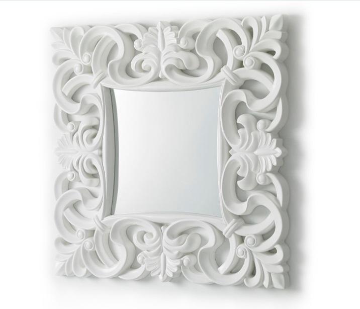 Espejo Lis blanco brillo 100x100 PU-021