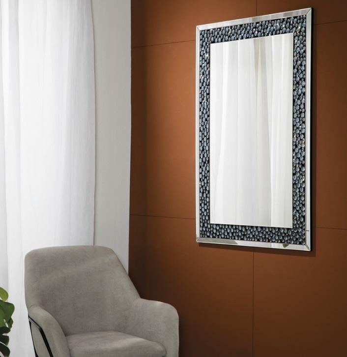 Espejo rectangular pedreria 120x80