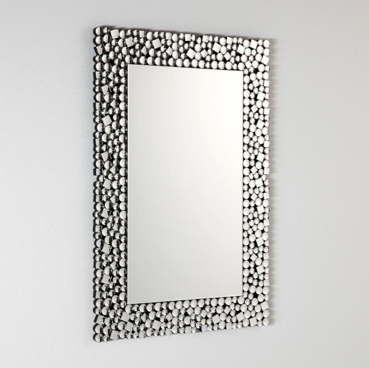 Espejo rectangular pedreria 90x60