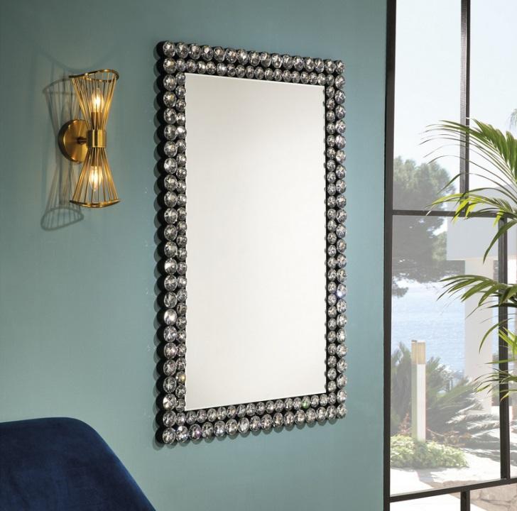 Espejo rectangular diamantes 120x80