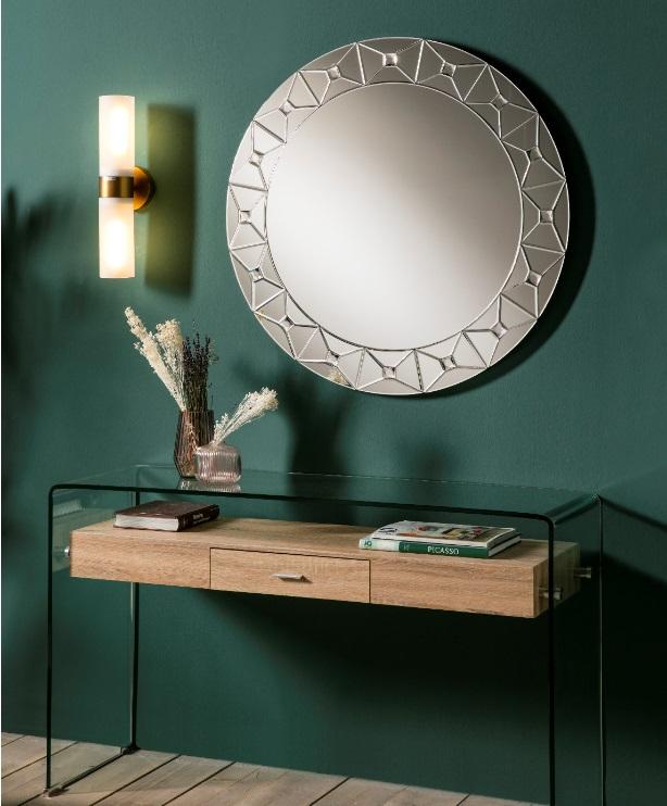 Espejo redondo decorado 90 cm E-886