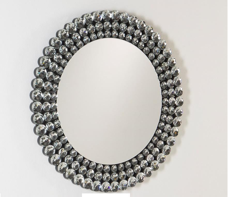 Espejo redondo diamantes 100 cm