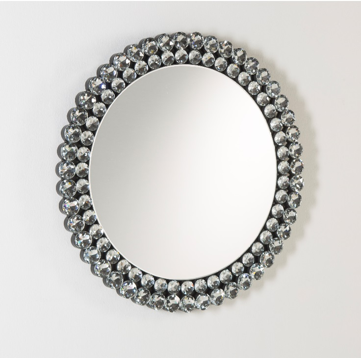 Espejo redondo diamantes 80 cm