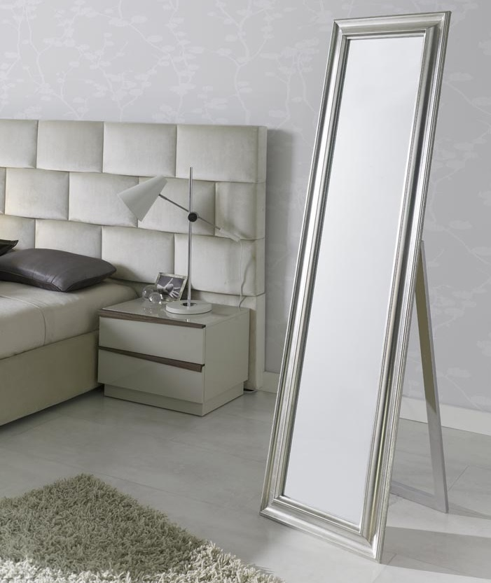 Espejo vestidor plata 180x50 E-205