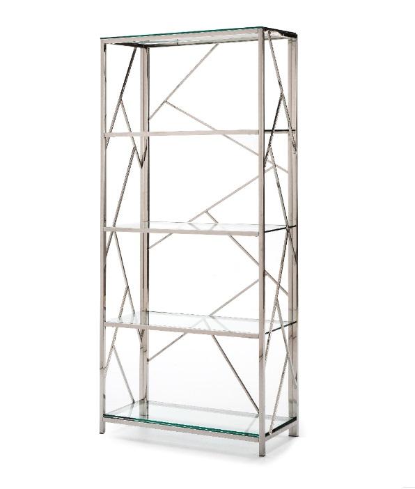 Estanteria Steel acero inoxidable cristal 180x80