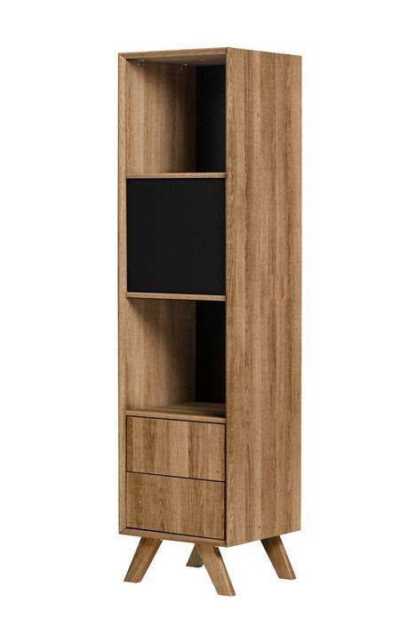 Modulo estanteria Tivoli roble negro 40x162