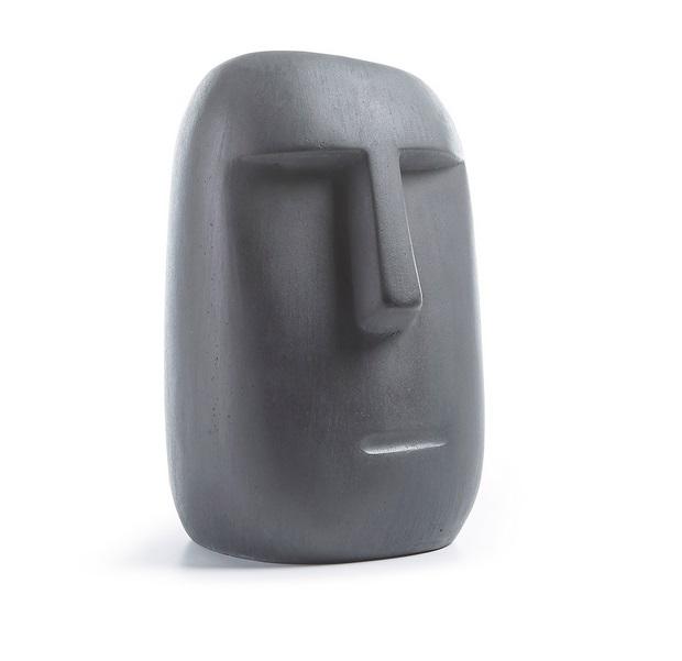 Figura Moai cemento gris 31cm