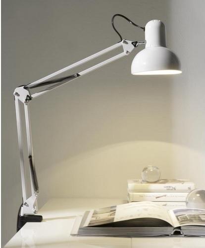 Lampara flexo soporte escritorio classic blanco