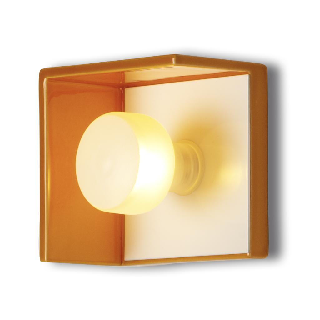 Bis lampara aplique ceramico naranja