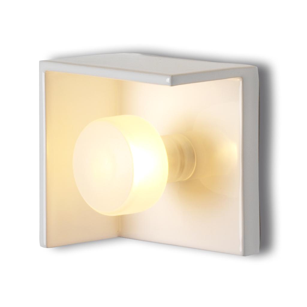 Bis lampara aplique ceramico blanco